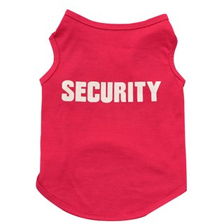 Hundeshirt Security Pink S